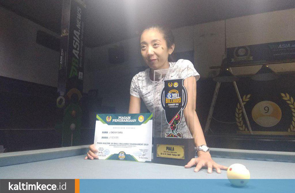 Cerita Endah Tiara Nita, Juara Senior Kaltim 10 Ball Billiard Tournament 2019
