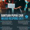 Infografik bantuan pupuk cair hasil perjuangan Ekti Imanuel untuk petani di Kutai Barat.